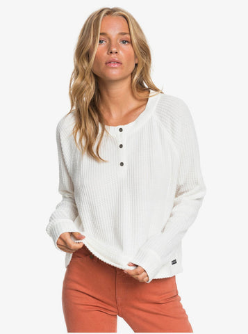 Roxy Womens Shirt Take It Home Cosy Waffle Knit