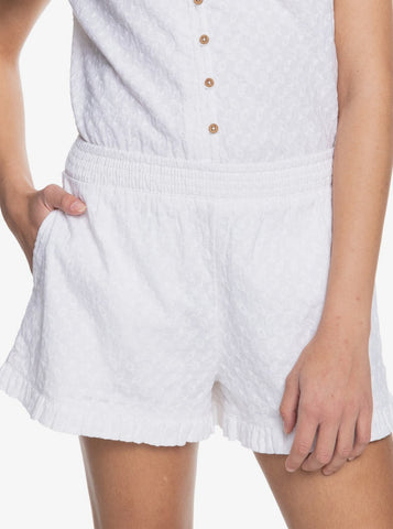 Roxy Womens Shorts Piece Of Time Mid Rise