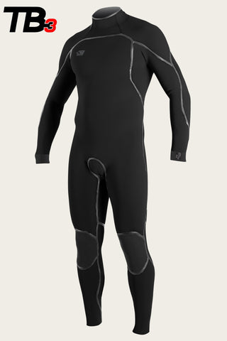 Oneill Mens Wetsuit Psycho One Back Zip 4/3mm Fullsuit