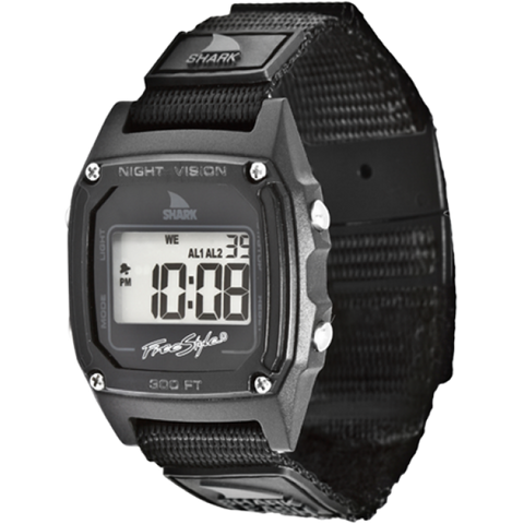 Freestyle Watch Shark Clip Black