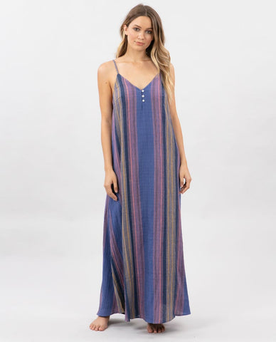 Rip Curl Womens Dress Golden Days Stripe Maxi