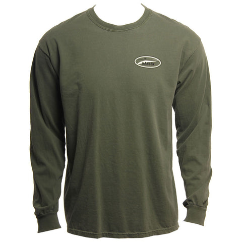 Hansens Mens Long Sleeve Shirt Original Logo