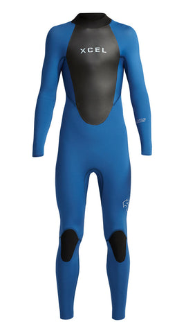 Xcel Youth Wetsuit Axis Back Zip 4/3mm Fullsuit