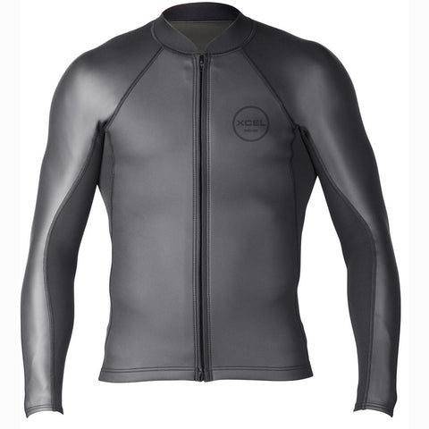 Xcel Mens Wetsuit Axis Sharkskin Front Zip Long Sleeve Jacket