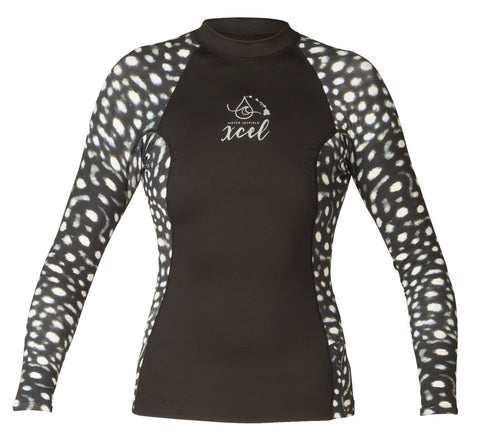 Xcel Womens Rashguard Water Inspired Premium Stretch 6oz