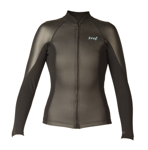 Xcel Womens Wetsuit Axis Smoothskin Long Sleeve Front Zip Jacket