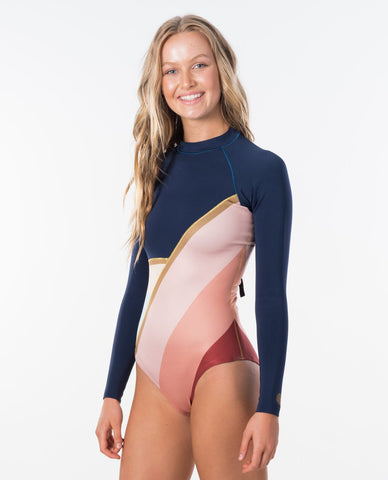 Rip Curl Womens Wetsuit G-Bomb Cheeky Coverage Long Sleeve Back Zip Spring Suit