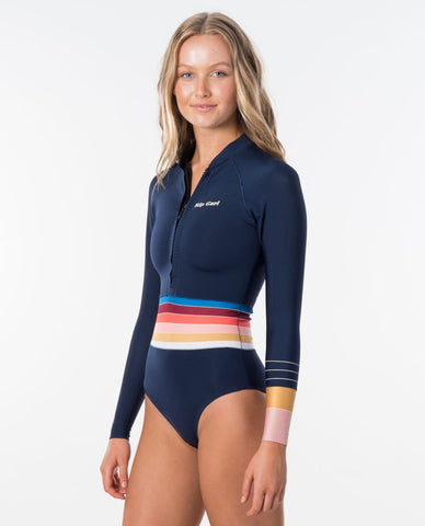 Rip Curl Womens Wetsuit Surf Revival G Bomb Long Sleeve Front Zip Spring Suit