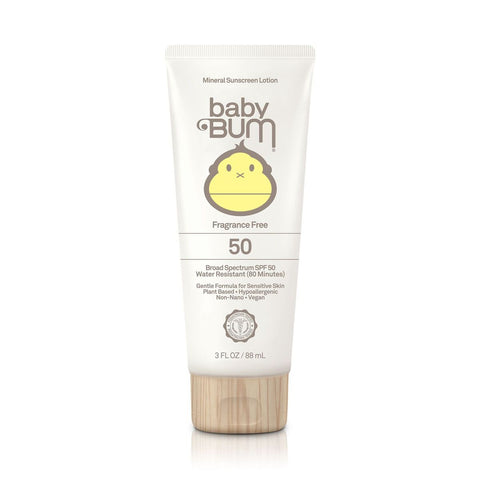 Sun Bum Sunscreen Baby Bum SPF 50 Mineral Lotion Fragrance Free 3 oz