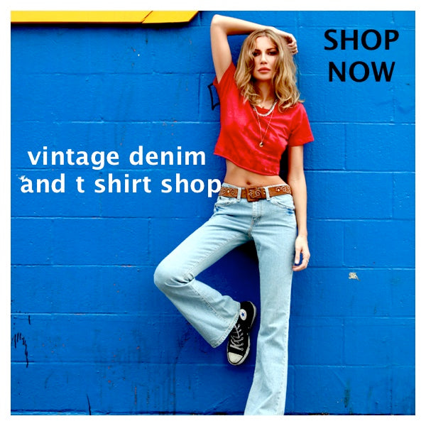 vintage denim and t shirts from dressmedown.com