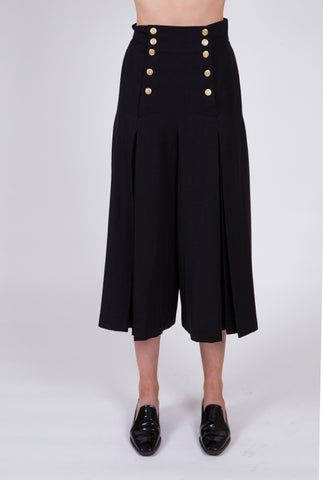MONDI Vintage Pleated Button Front Gaucho Pant: Size 2- SOLD OUT