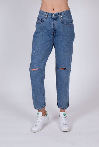 Tommy Hillfiger Vintage Reworked High Waisted Mom Jeans: Size 6