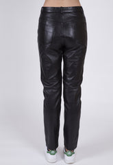 East Village Slims Vintage Leather Trouser Pant: Size 6