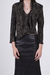 Donna Karan Vintage Ruffle Front Blouse: Size Small