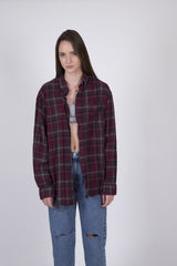 Teen Spirit Plaid Oversized Flannel: Size XL