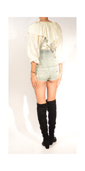 Miss Sixty Denim Overall Hot Shorts: Size 26