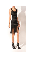 moschino fringe dress