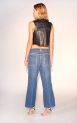 fringed leather vest