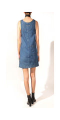 mod denim dress