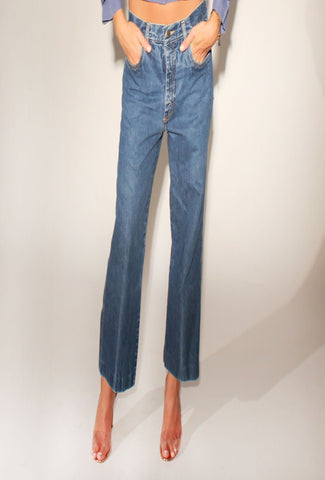 Pierre Cardin Super Rad Cropped Flare Jeans: Size 30