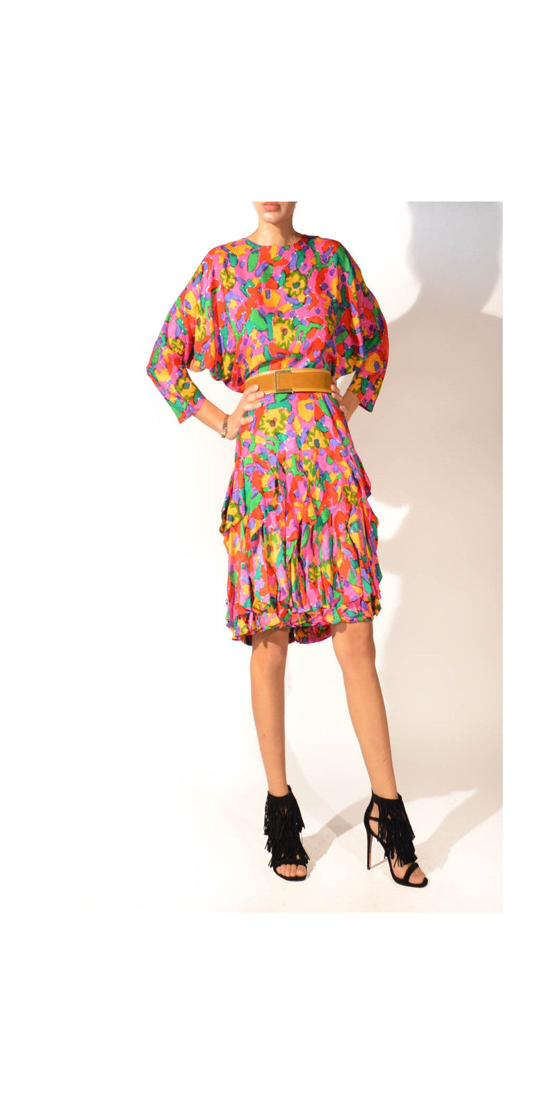 abstract floral dress