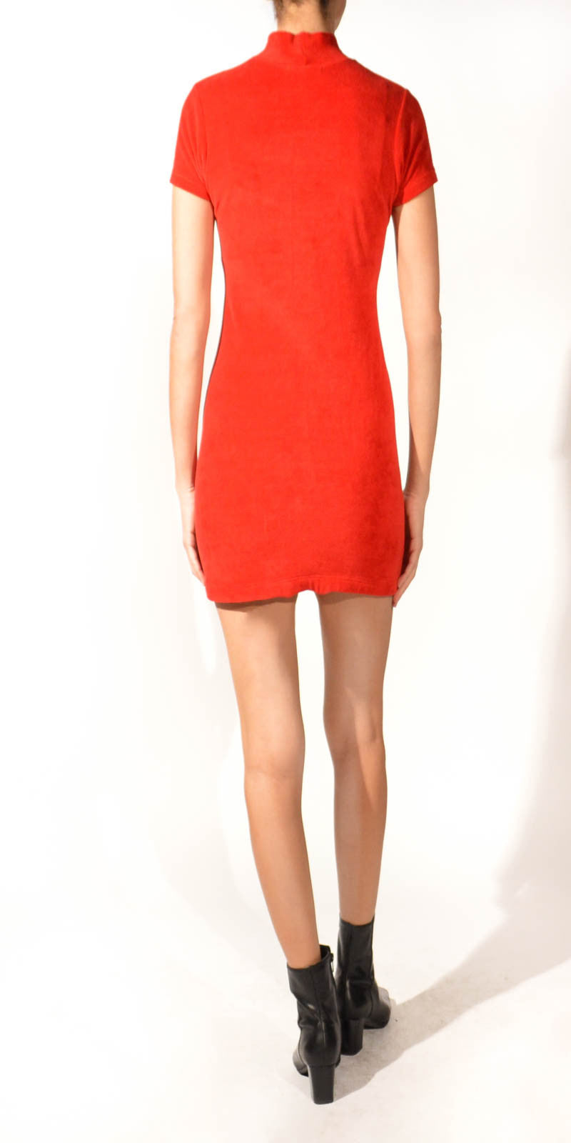 Kings Road Velvet Vintage Sexy Red Dress: Size S