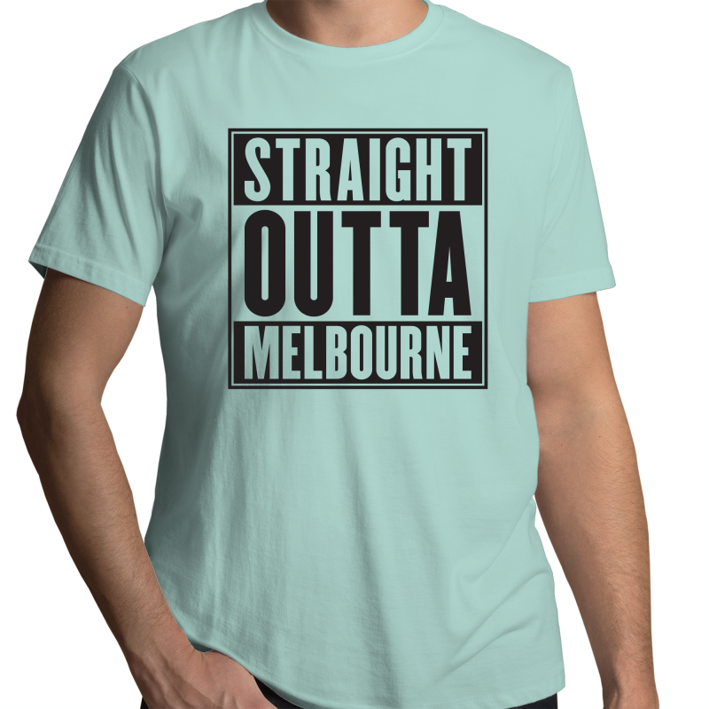 Straight Outta Melbourne - Mens T-Shirt - Needs & Wishes Art