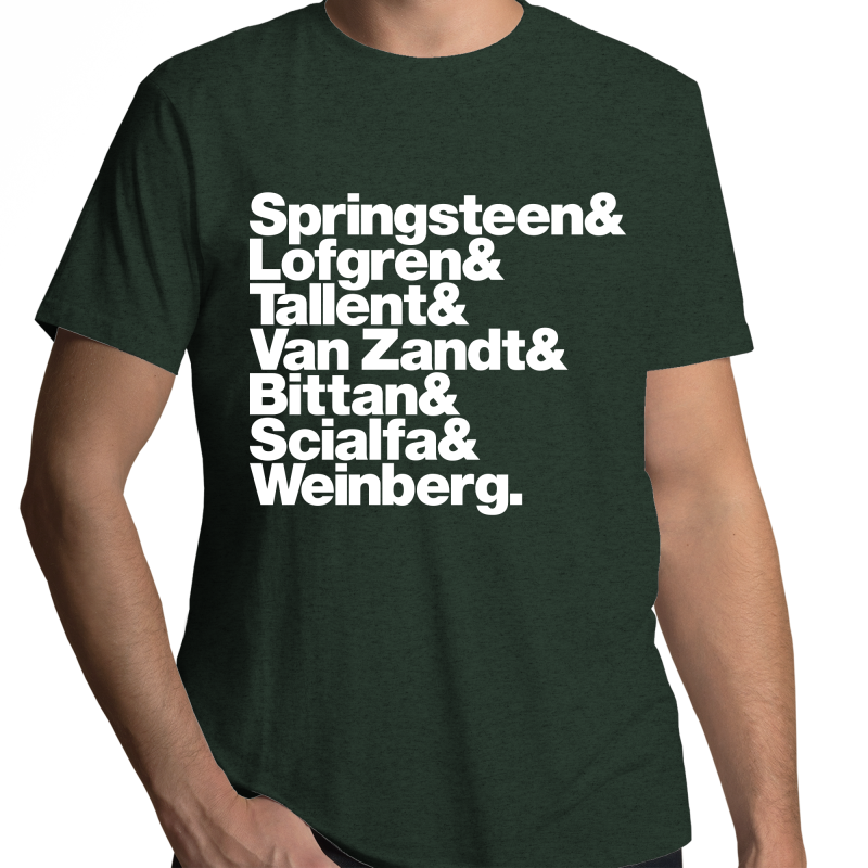 Bruce Springsteen & The E-Street Band Line-Up Mens T-Shirt