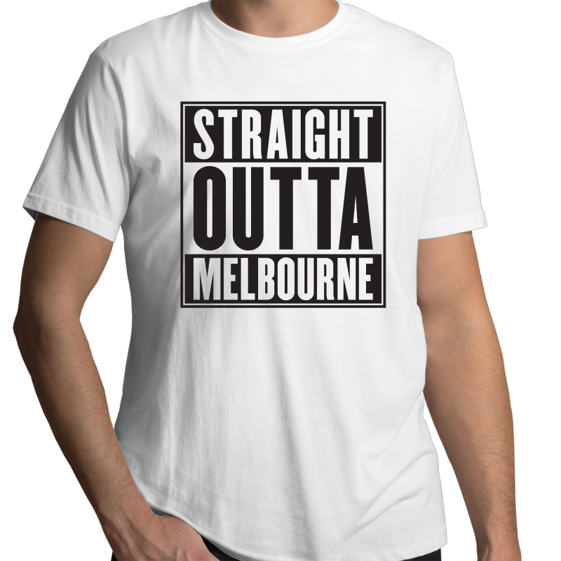 Straight Outta Melbourne - Mens T-Shirt