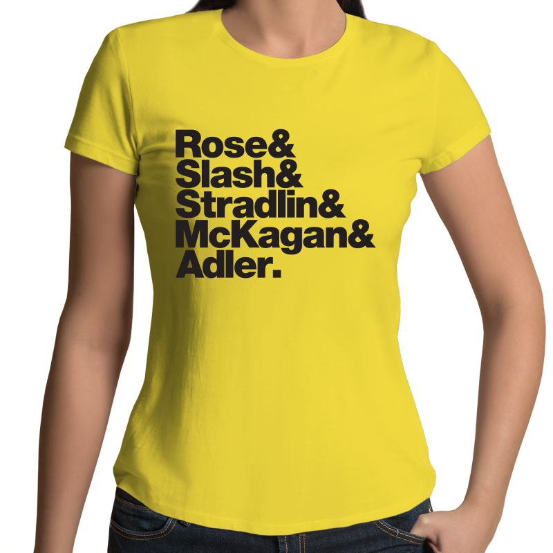 Guns N' Roses Band Line-Up Womens Crew T-Shirt