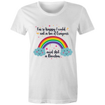 Happy Rainbow Womens Crew T-Shirt