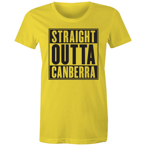 Straight Outta Canberra Womens Crew T-Shirt