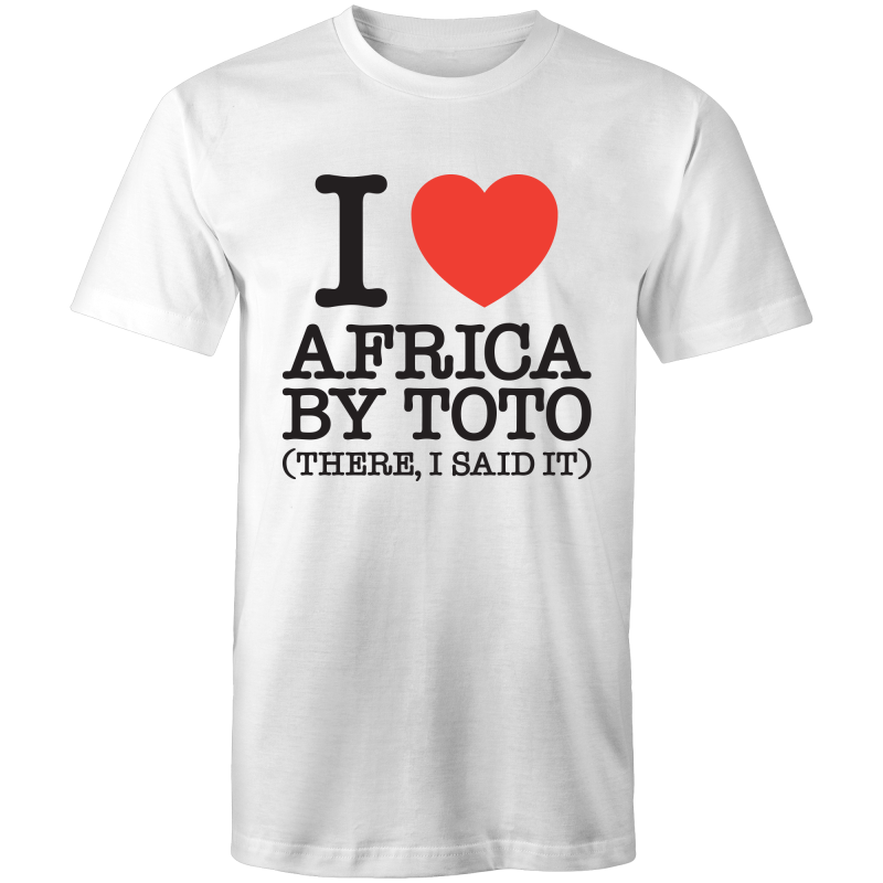 I Heart Africa by Toto Mens T-Shirt