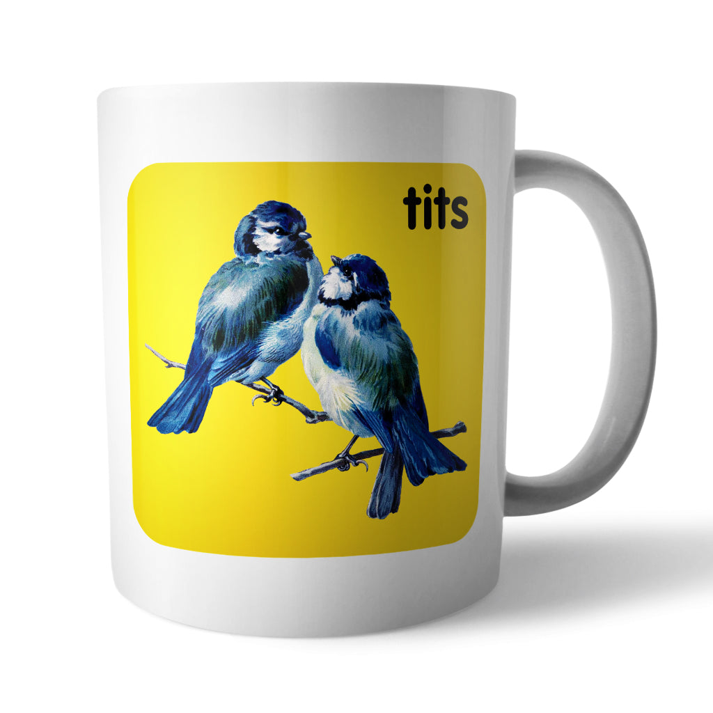 Tits: Animal Innuendo Mug - Needs & Wishes Art