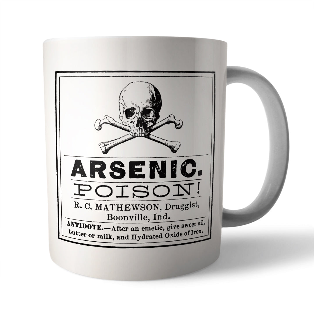 Arsenic Poison Ceramic Mug - Needs & Wishes Art