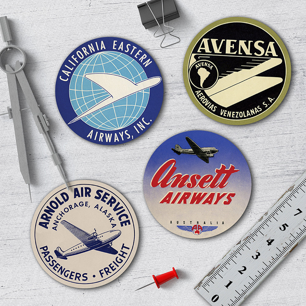 Aviation Coaster Set - Needs & Wishes Art