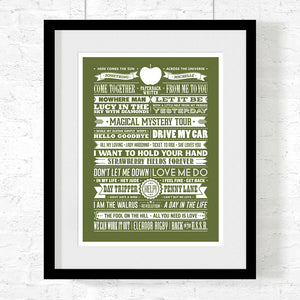 Beatles Songs Art Print - Needs & Wishes Art