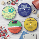 Classic Rock Record Labels Coaster Set - Needs & Wishes Art