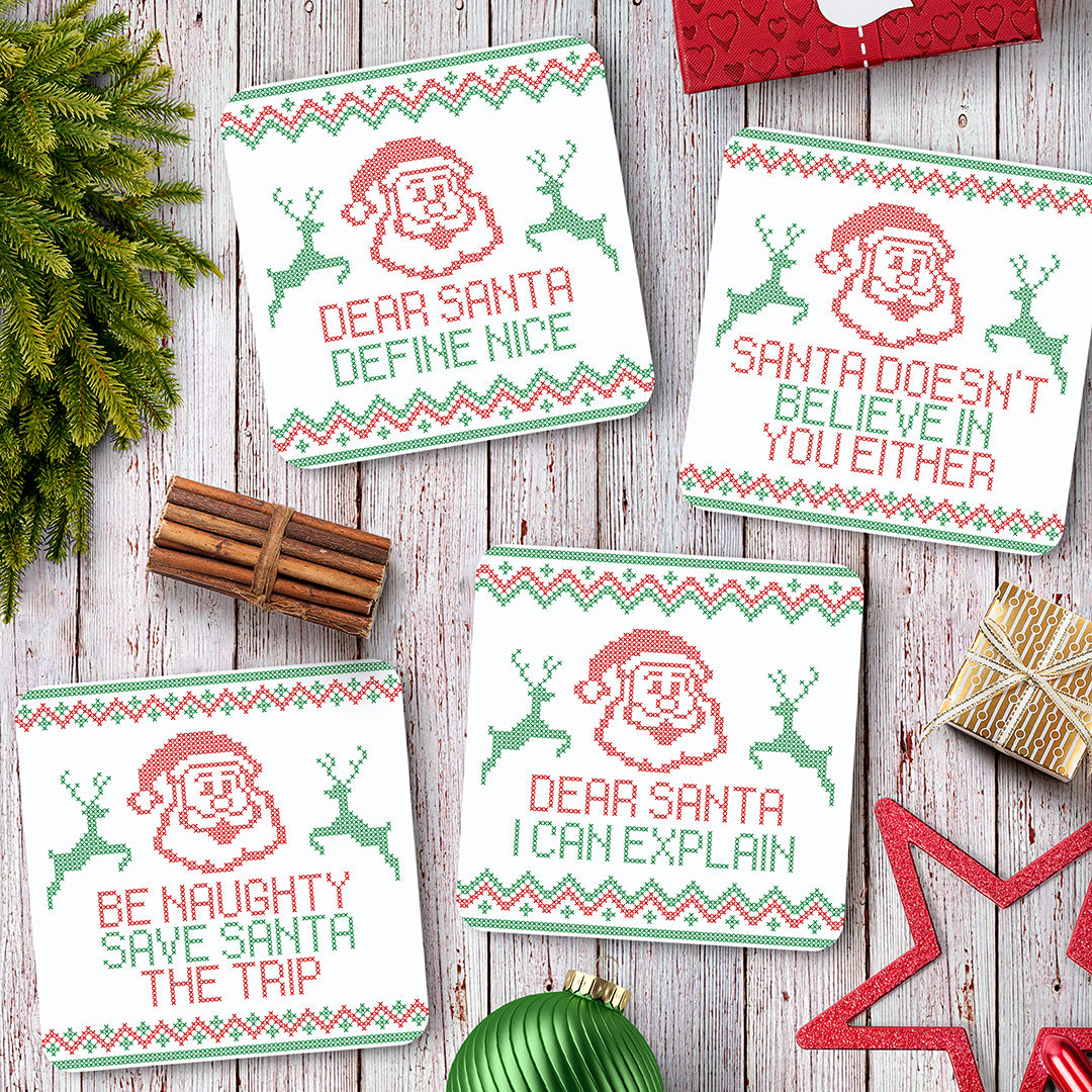 Christmas Cross Stitch Coaster Set - Needs & Wishes Art