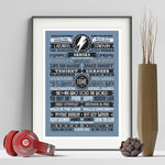 David Bowie Typographic Art Print - Needs & Wishes Art