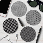 Monochrome Geometric Coaster Set 2 - Needs & Wishes Art