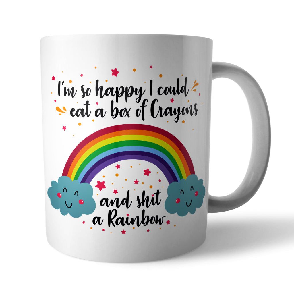 Happy Rainbow Ceramic Mug - Needs & Wishes Art
