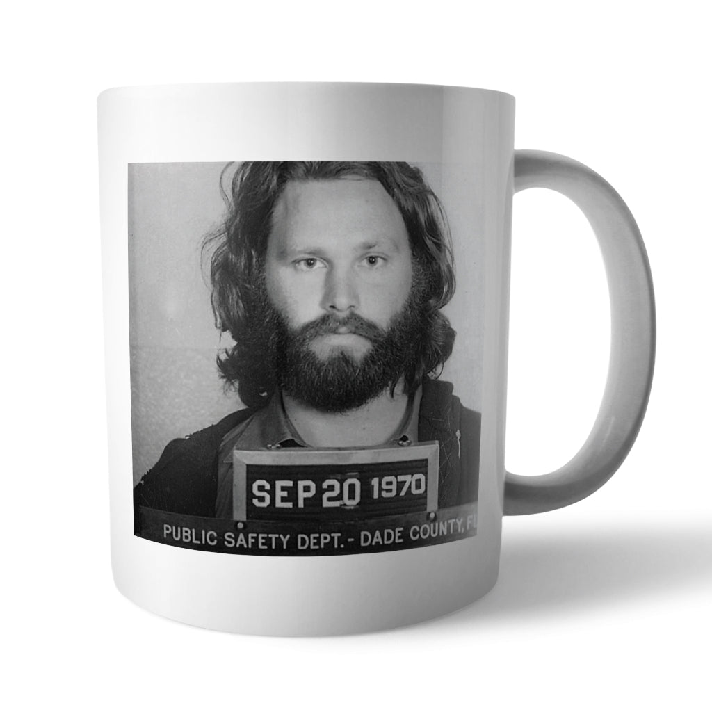 Jim Morrison Mugshot Mug - Needs & Wishes Art