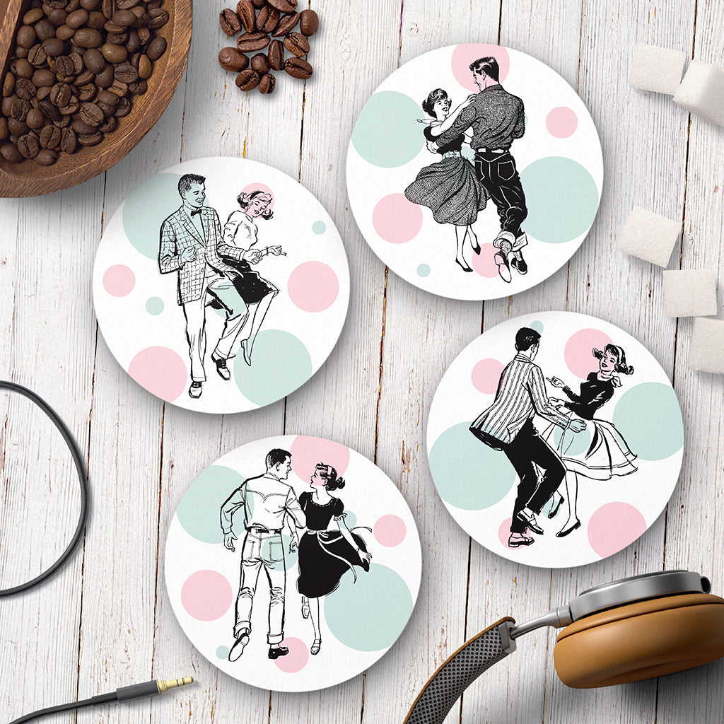 Jive Party Coaster Set - Needs & Wishes Art