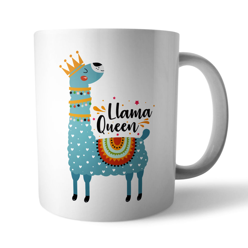 Llama Queen Ceramic Mug - Needs & Wishes Art