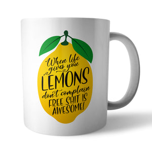Lemons Ceramic Mug - Needs & Wishes Art