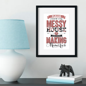 Busy Making Memories. A4 Typographic Art Print.