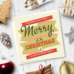 Merry Christmas Cards. (Mixed Pack of 6). - Needs & Wishes Art