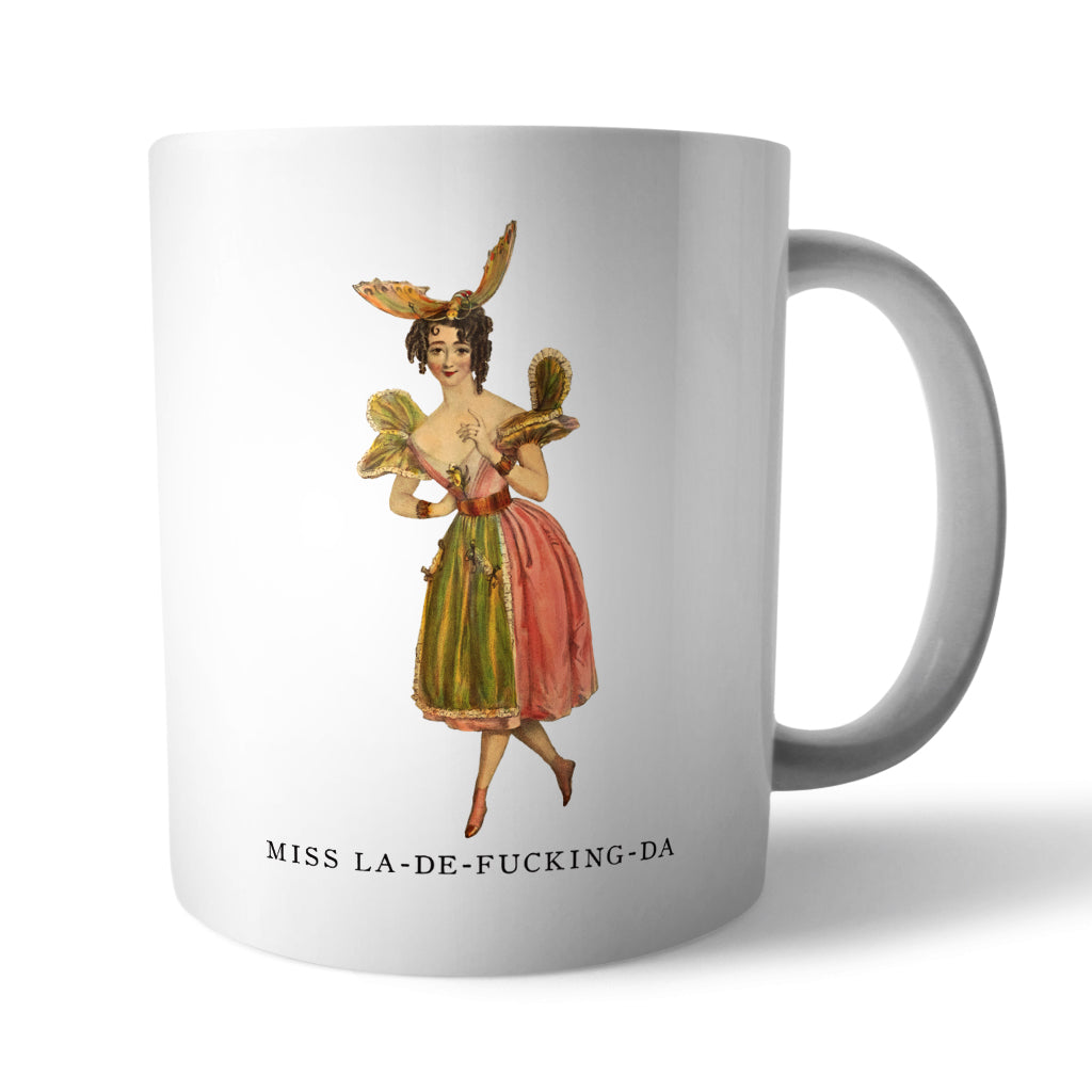 Miss La-De-Da Ceramic Mug - Needs & Wishes Art