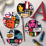 Retro Pop Art Coaster Set - Needs & Wishes Art